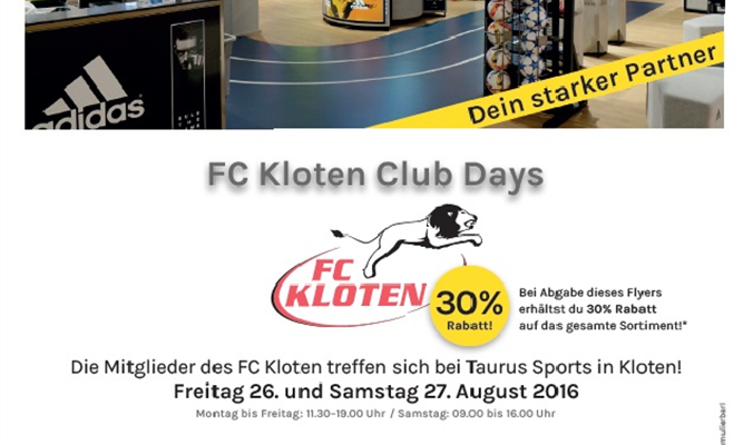 FC KLOTEN CLUB DAYS BEI TAURUS SPORTS
